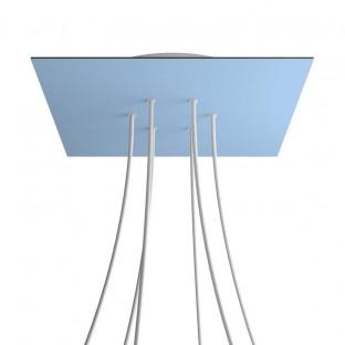 Smart cilindervormige plafondkap van metaal - compatibel met spraakassistenten