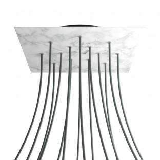 Mini cilindrisch metaal 1 centraal gat + 4 zijgaten plafondkap kit