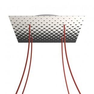 Rose-One compleet vierkant plafondkap-kit 400 mm. met 4 gaten en 4 zijgaten - PROMO