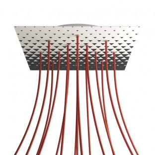 Cilindrische metalen E27 fittinghouder kit met 15 cm. trekontlaster