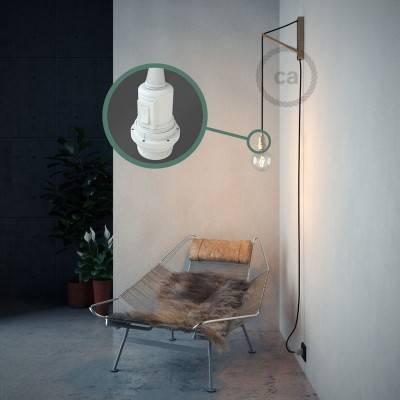 """""""Snake"""" hanglamp met extra lang strijkijzersnoer zwart viscose RM04"""