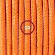 """Snake"" snoerlamp met extra lang strijkijzersnoer oranje viscose RM15"