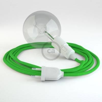 """""""Snake"""" snoerlamp met extra lang strijkijzersnoer limoen groen viscose RM18"""