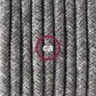 """""""Snake"""" snoerlamp met extra lang strijkijzersnoer grijs linnen RN02"""