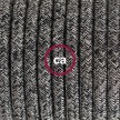 """""""Snake"""" snoerlamp met extra lang strijkijzersnoer zwart linnen en katoen RS81"""