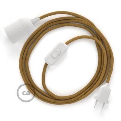 SnakeBis bedradingsset met fitting en strijkijzersnoer - honing goud katoen RC31