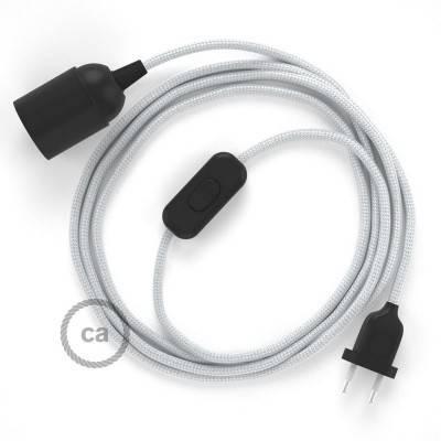 SnakeBis bedradingsset met fitting en strijkijzersnoer - zilver viscose RM02