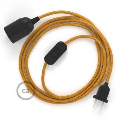 SnakeBis bedradingsset met fitting en strijkijzersnoer - goud viscose RM05