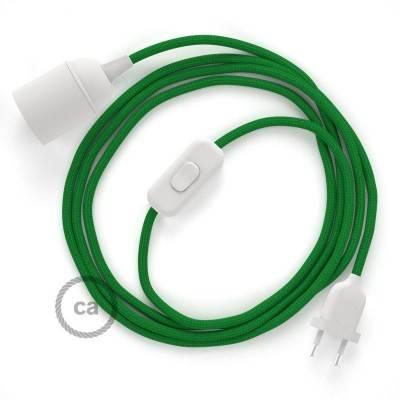 SnakeBis bedradingsset met fitting en strijkijzersnoer - groen viscose RM06