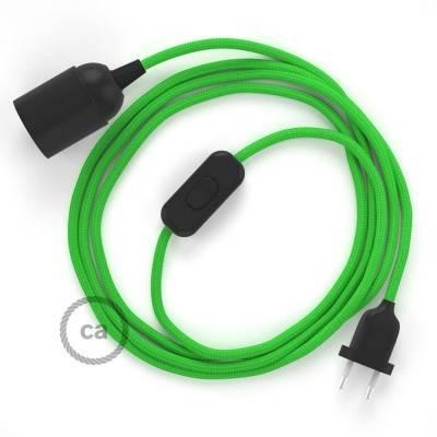 SnakeBis bedradingsset met fitting en strijkijzersnoer - limoen groen viscose RM18