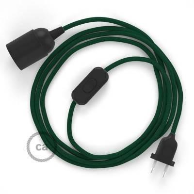 SnakeBis bedradingsset met fitting en strijkijzersnoer - donkergroen viscose RM21